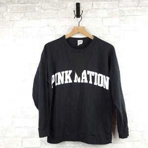 Victoria's Secret Pink Mesh Sweatshirt | Size XS